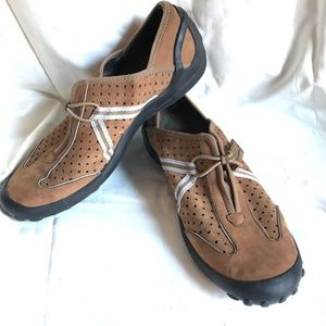 PRIVO by CLARKS Brown Slip On Leather Shoes ~sz 9